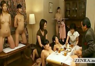 way-out japanese nudist thraldom dining room