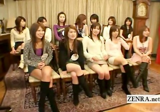 subtitled cfnm japanese penis research with