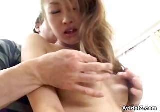 breasty japanese slut receives her asian curly